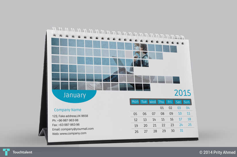 2015 Corporate Desk Calendar Template Psd Touchtalent For