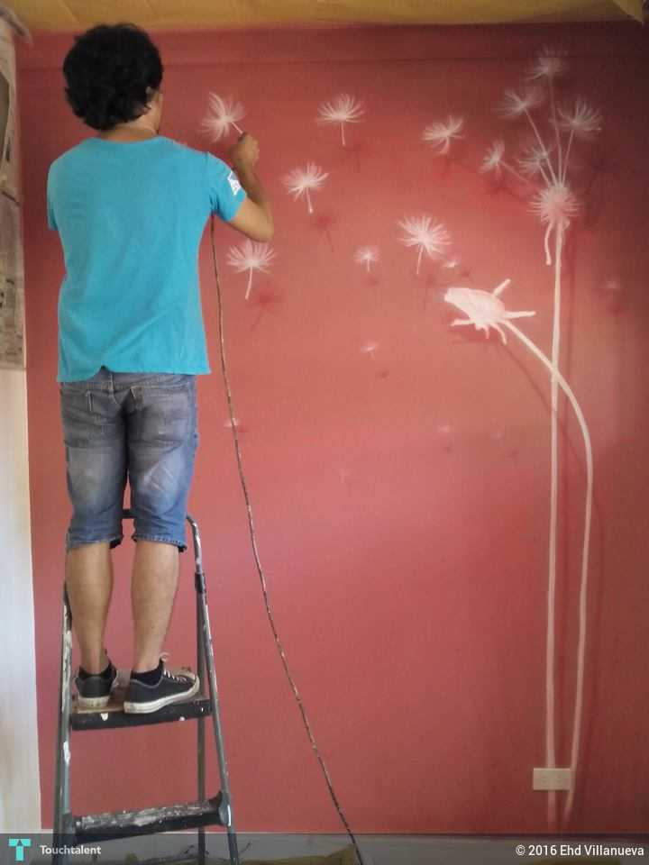 3d wall mural painting painting ehd villanueva for 3d mural painting tutorial