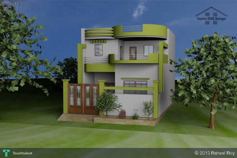 3d Modren House Perspective View 3d Art Raheel Khan