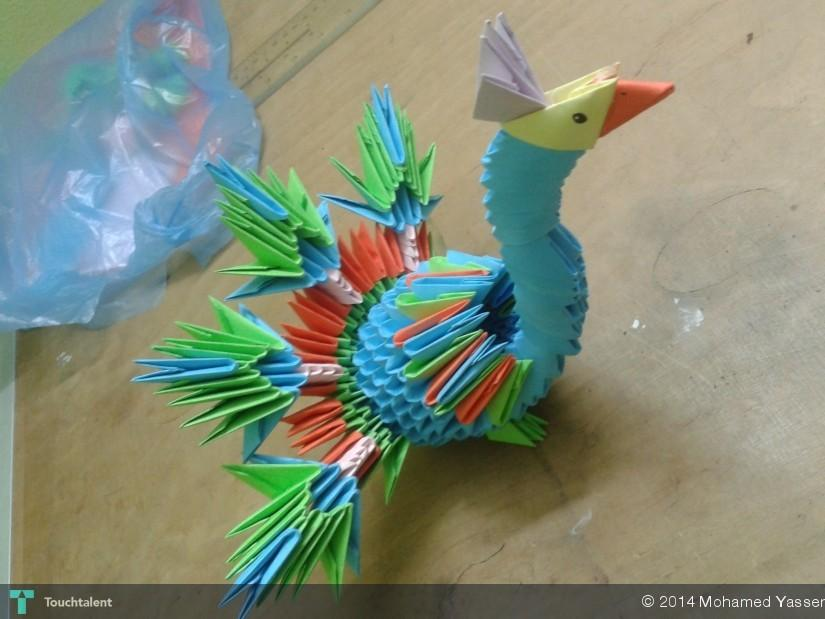 Small Colorful Swan (3D Origami) by Denierim on DeviantArt | 619x825