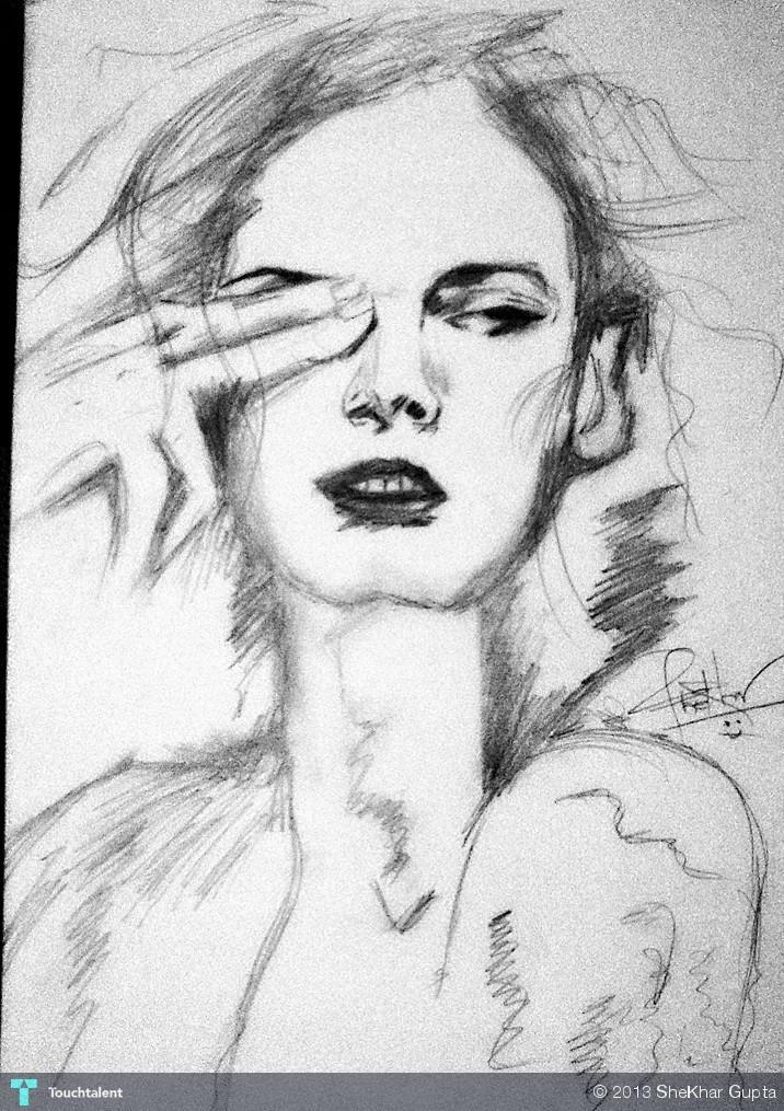 A Free Hand Draw Sketching Shekhar Gupta Touchtalent