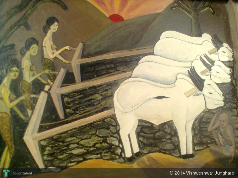 A Rise Of Women Farmers In Vidarbha ,india Due  To Male Farmers Suiscide. in Painting