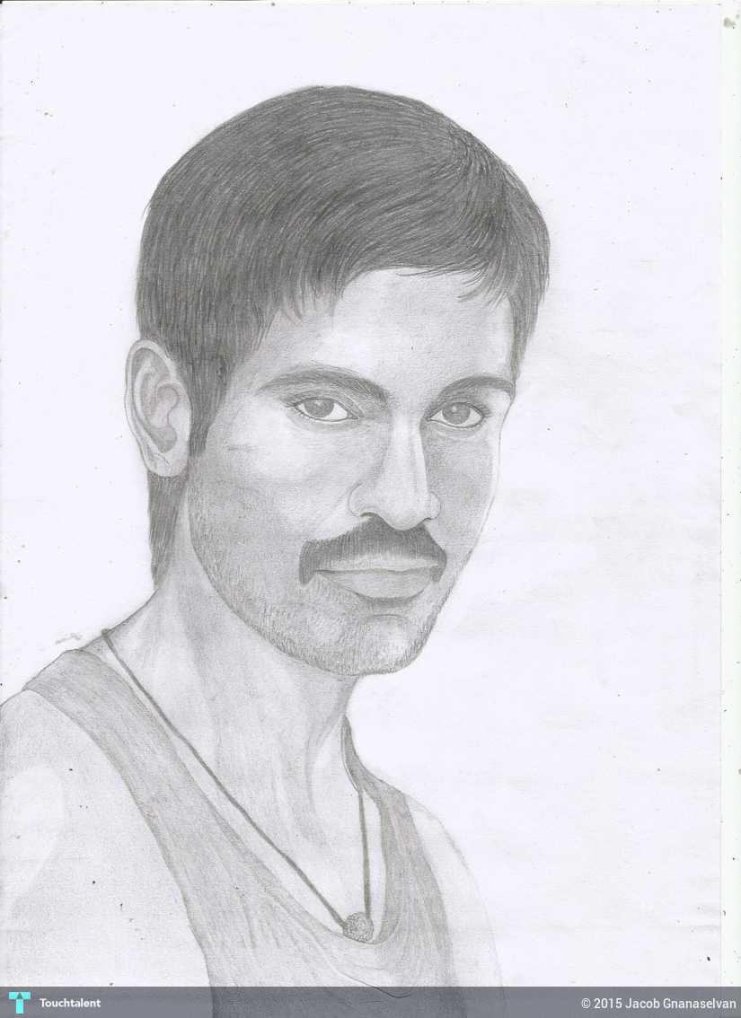 Jackhi pencil drawing actor dahnaush with and 2 other 2 others