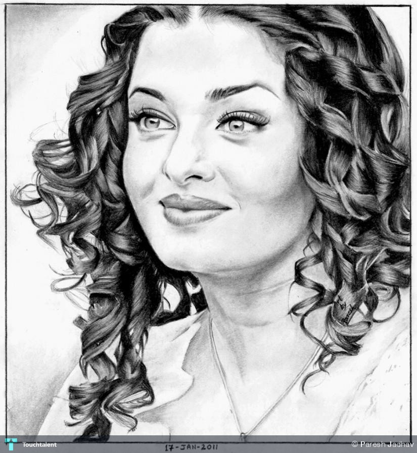 Aishwarya-Rai-Pencil-Sketch-84016