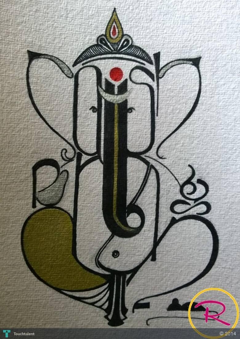Akshar Ganesha - Calligraphy | Sheetal Sarate | Touchtalent
