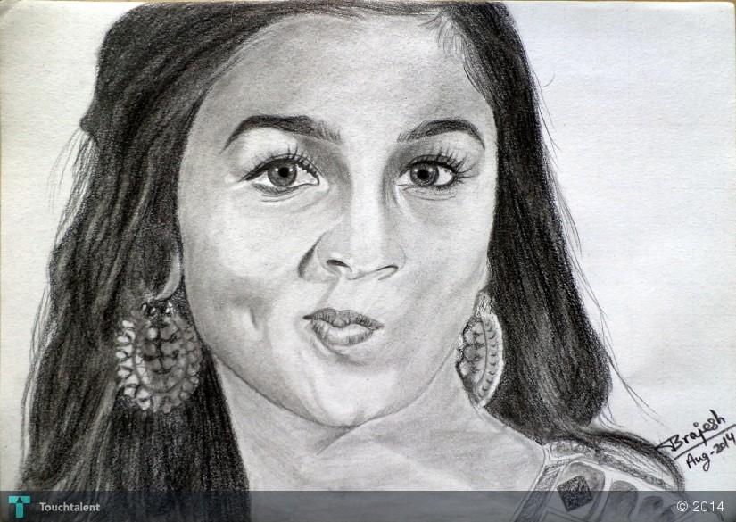 Alia Bhatt - Sketching | Brajesh Kumar | Touchtalent