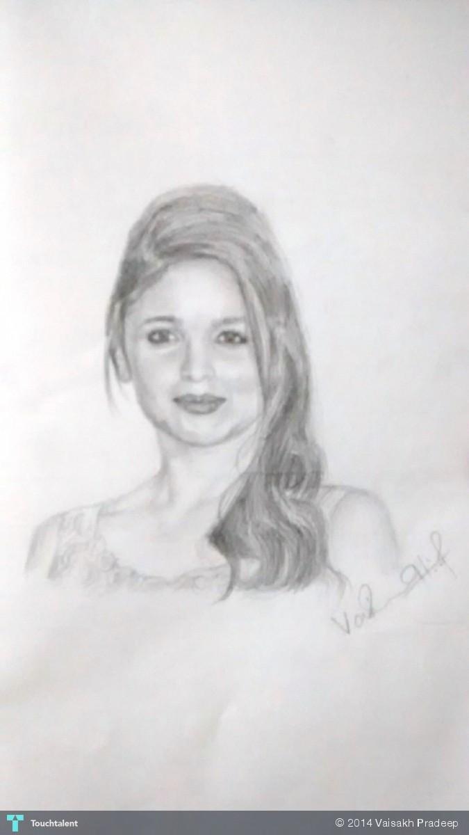 Alia Bhatt - Sketching | Vaisakh Pradeep | Touchtalent