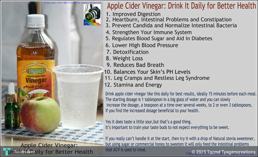 Apple Cider Vinegar (ACV) Benefits -please Share This With