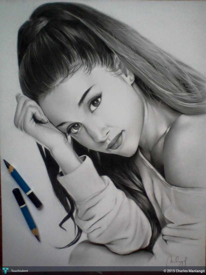Ariana grande in sketching by charles manlangit