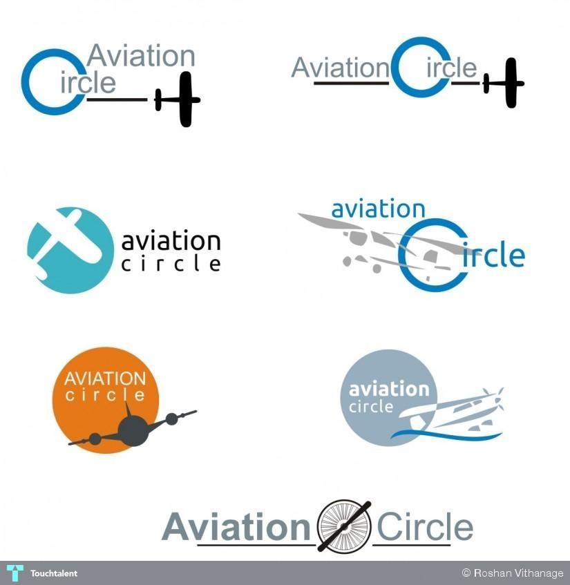 Aviation Circle Logo Design Roshantha Vithanage