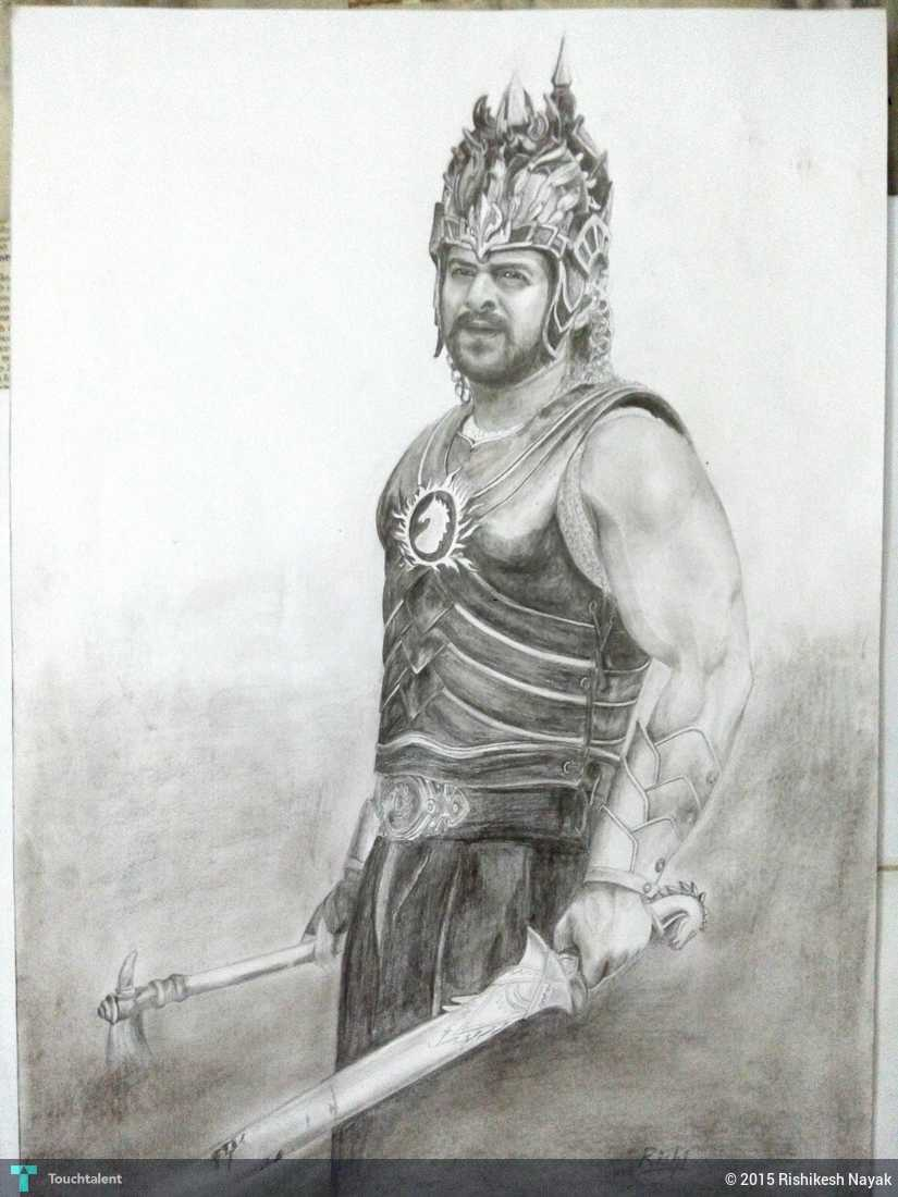 Bahubali in sketching by rishikesh nayak