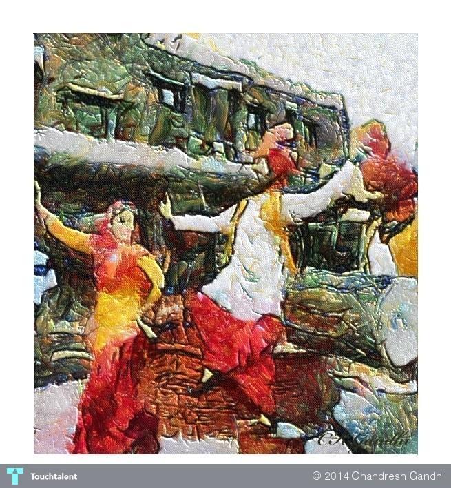 Bhangda Dance in Digital Art