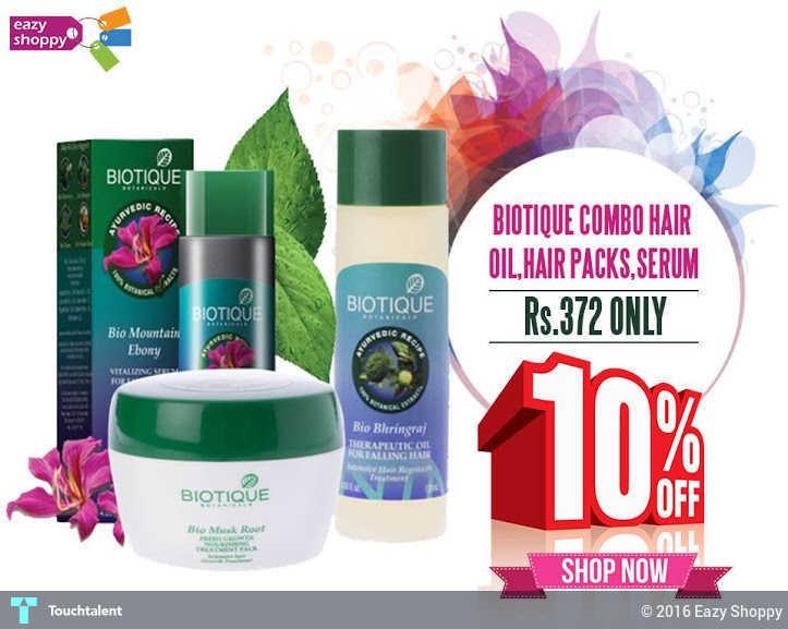Biotique Combo Hair Oil, Hair Packs, Serum | Touchtalent