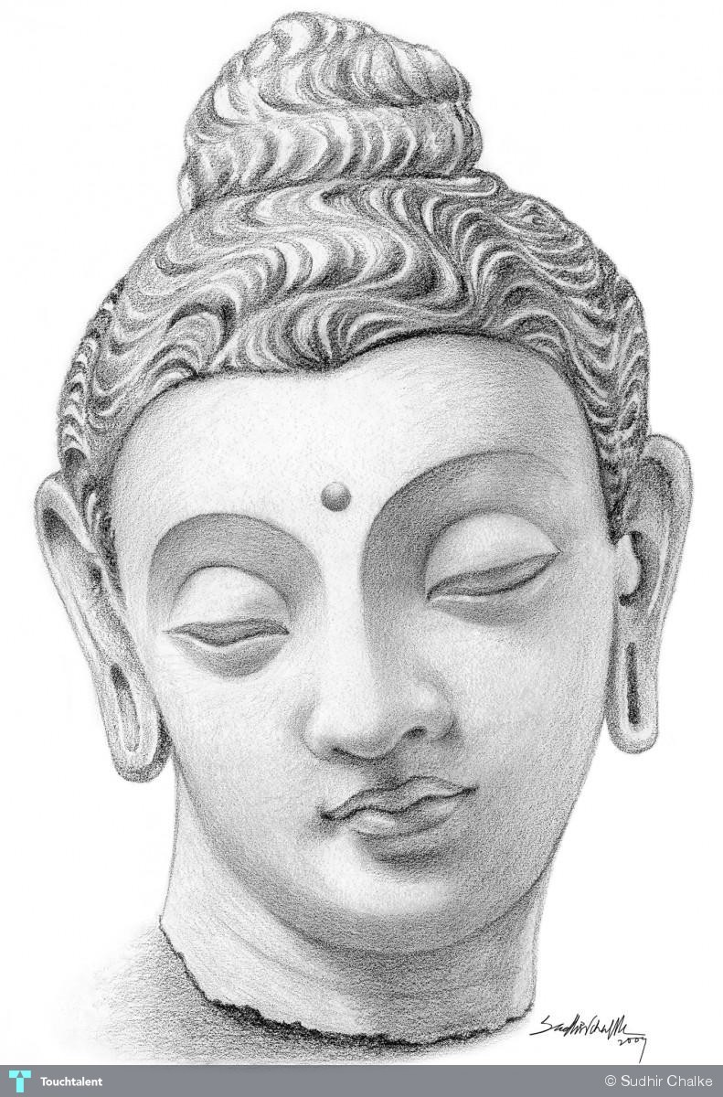 Buddha Face - Painting | Sudhir Chalke | Touchtalent