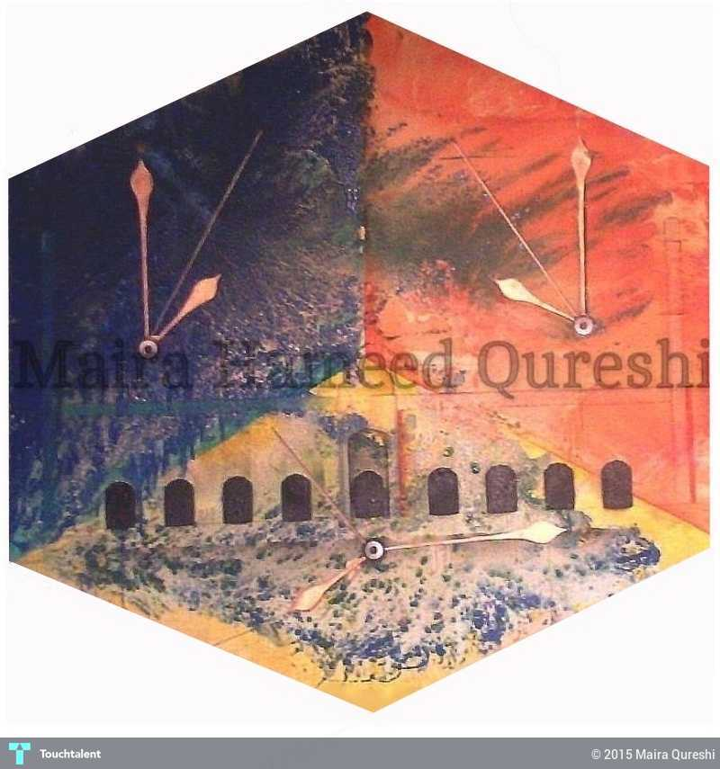 call for prayer painting maira qureshi touchtalent
