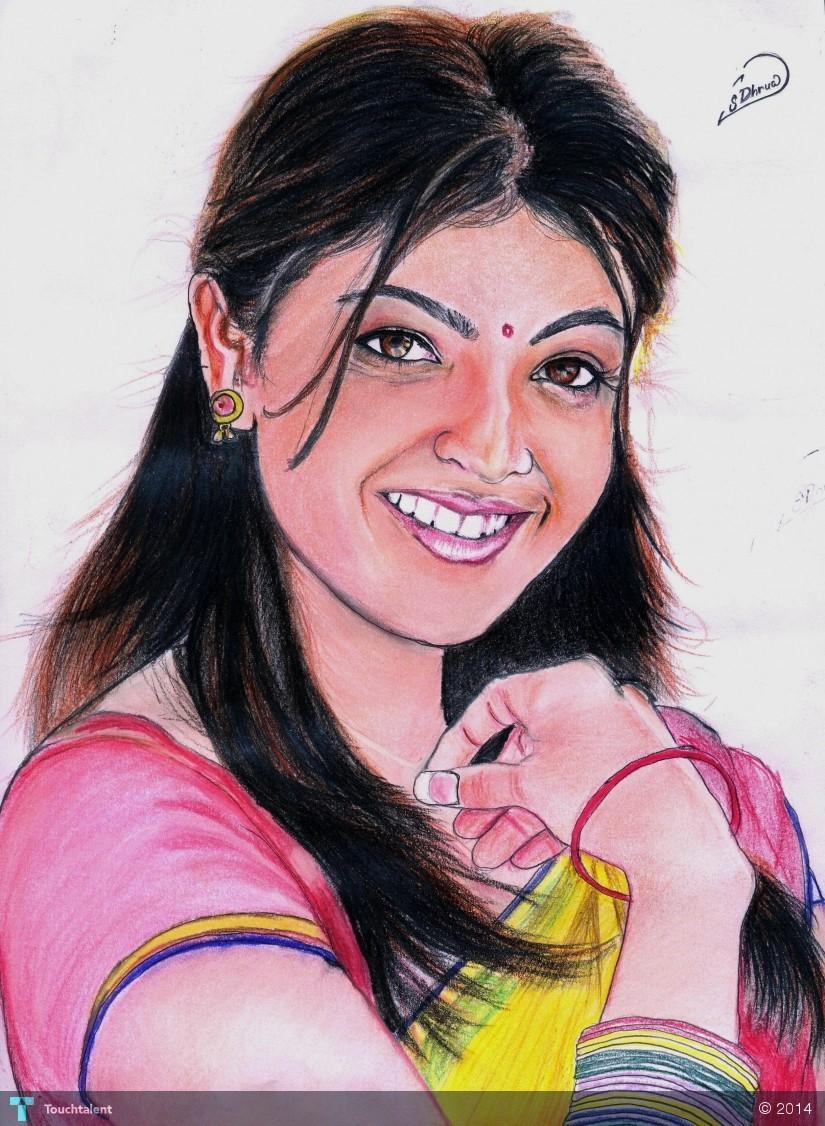 Kajal Pencil Drawing Kajal Agarwal by Surendra