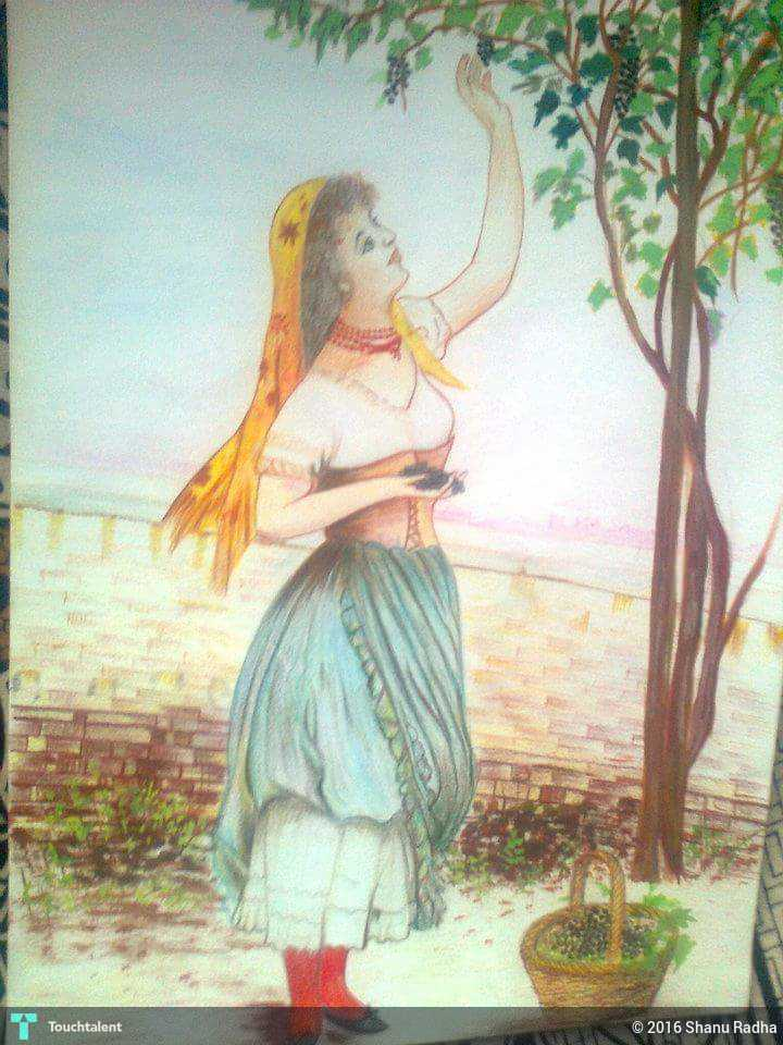 color drawing in painting by shanu radha - Color Drawing Pictures