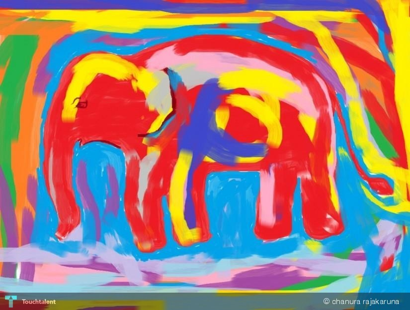 Colorful Elephant Paintings Colorful Elephant in Painting
