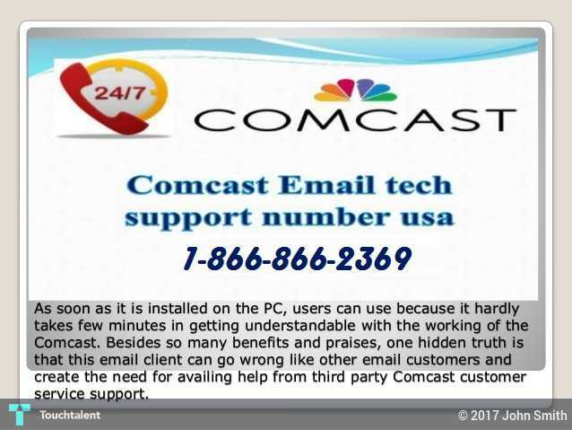 Comcast Email 1-866-866-2369 Customer Service- Toll Free