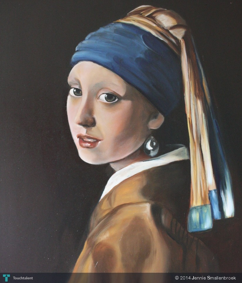 Copy Of The Girl With The Pearl Earring By Vermeer In Painting By Jennie  Smallenbroek
