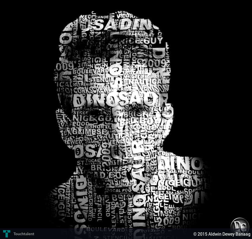 Creating powerful text portrait design aldwin dewey Typography portrait