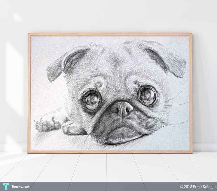 4789126a7612 Custom Pet Portrait,Pencil Drawing,Printable Art Print,Digital Download Art  in Digital