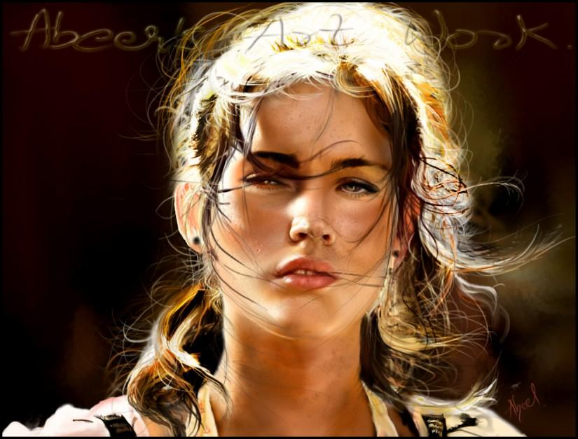 Digital Painting Of Megan Fox - Digital Art | Abeer Art ...