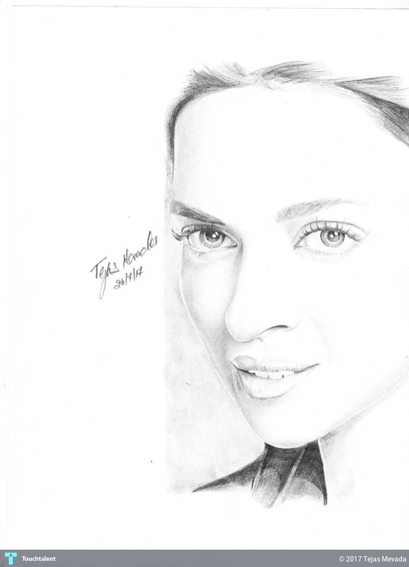 Dipika padukone pencil drawing touchtalent for everything creative