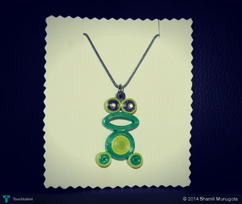 Frog_Quilling_Jewel_Pendant - Crafts   Shamili Munugota   Touchtalent