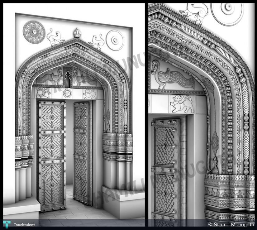 Entrance Gate 3d Model Golconda Entrance Gate 3d