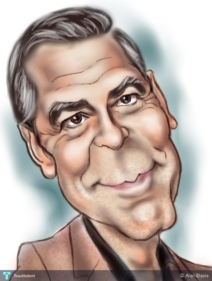 George Clooney - Digital Art | Alan Davis | Touchtalent George Clooney