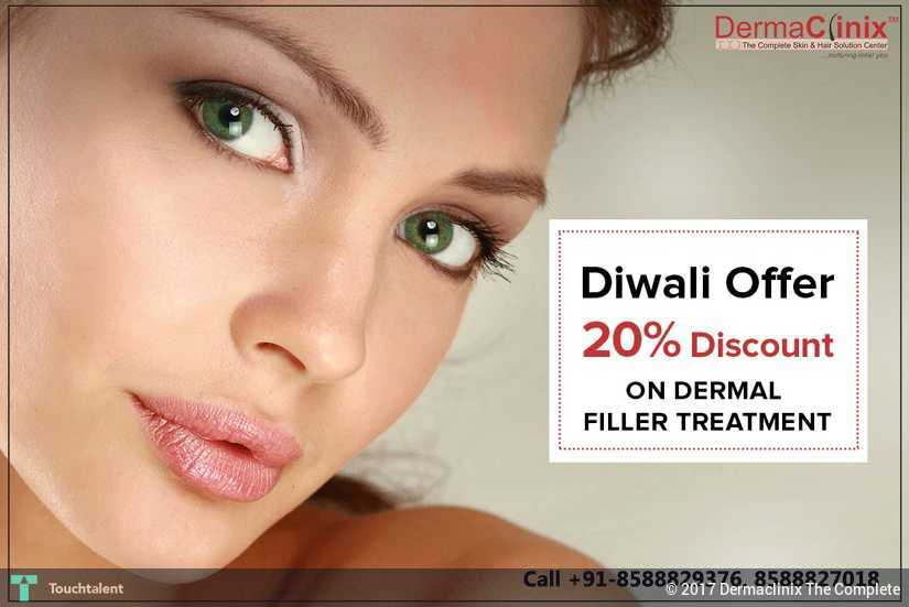 Get 20% Discount On Dermal Filler At DermaClinix, Delhi NCR