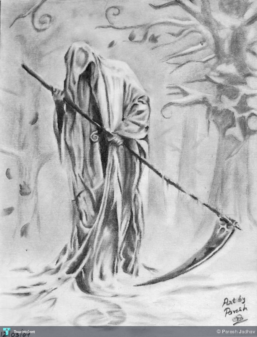 Grimreaper Pencil Sketch Touchtalent For Everything Creative