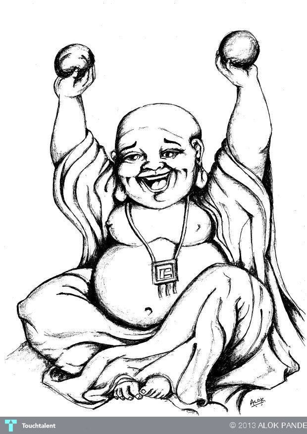 laughing buddha drawing - photo #8