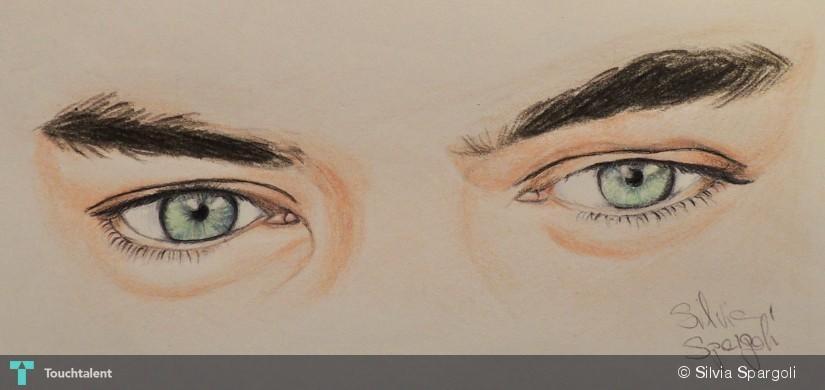 Harry Styles Eye Drawing Harry Styles Eyes in Painting