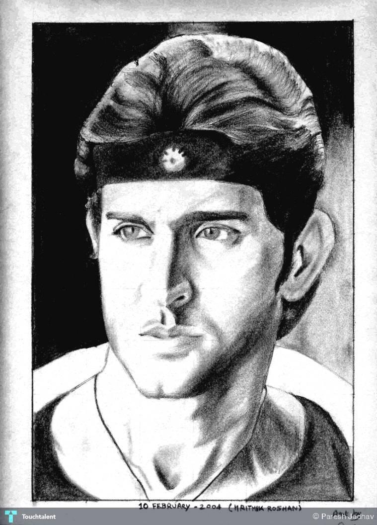 Hrithik roshan pencil sketch in sketching by paresh jadhav