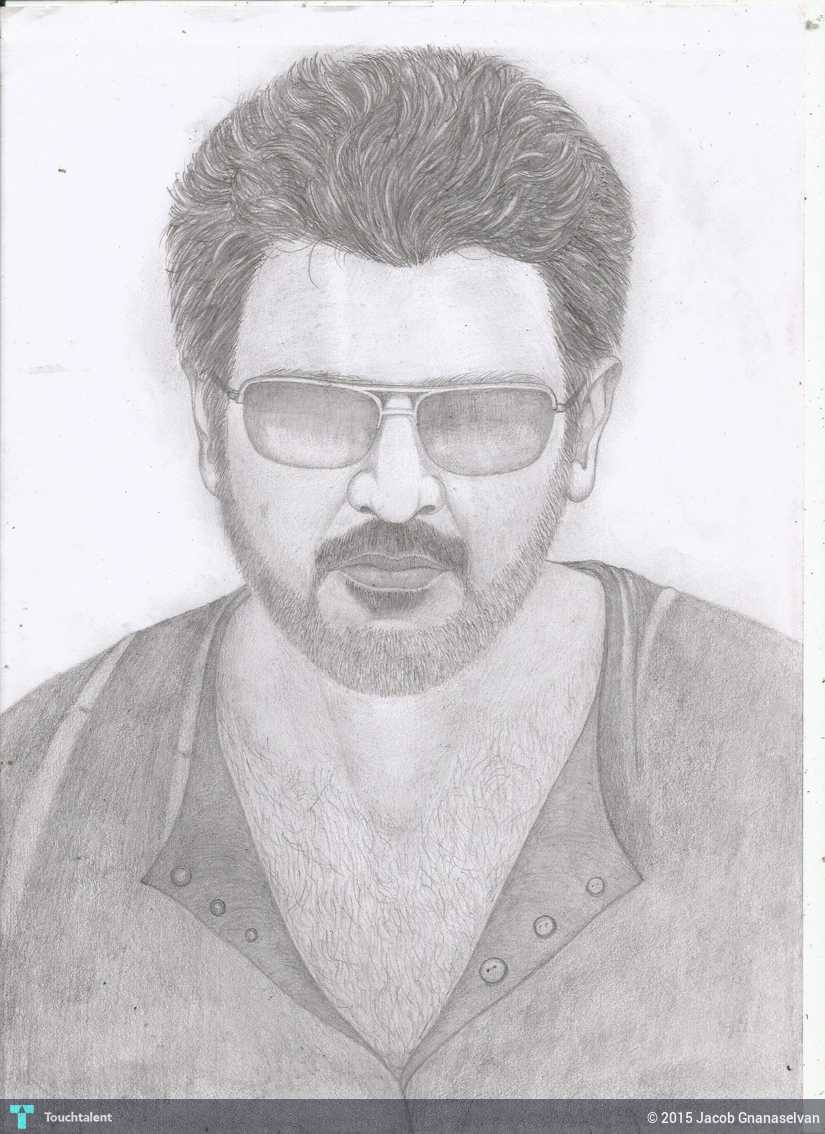 Ajith kumar pencil sketch in sketching by