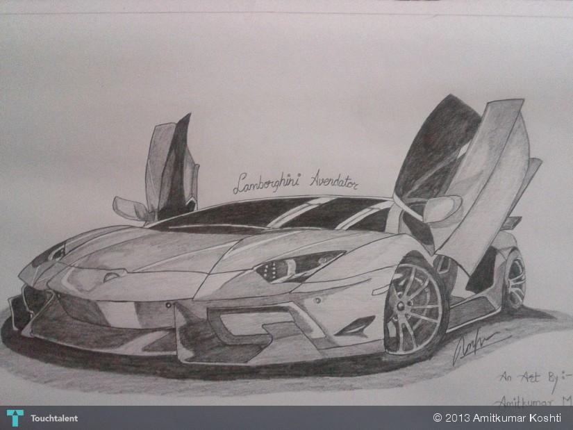 Lamborghini Aventador Sketching Amitkumar Koshti