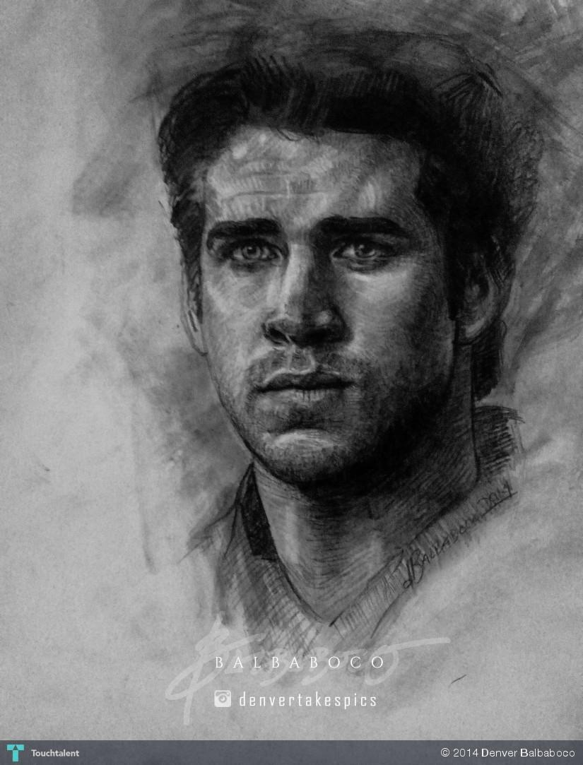 Liam Hemsworth - Sketching | Denver Balbaboco | Touchtalent Liam Hemsworth