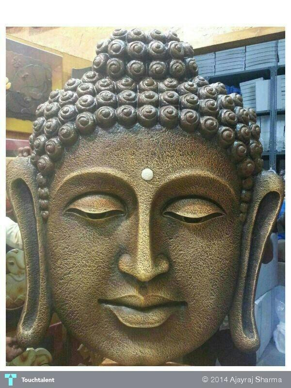 Lord buddha face wall mural sculpting ajayraj sharma for Buddha mural art
