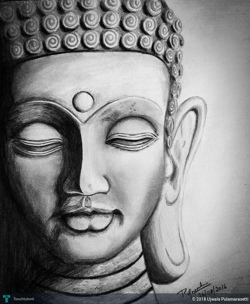 Lord buddha sketching ujwala pulamarasetti