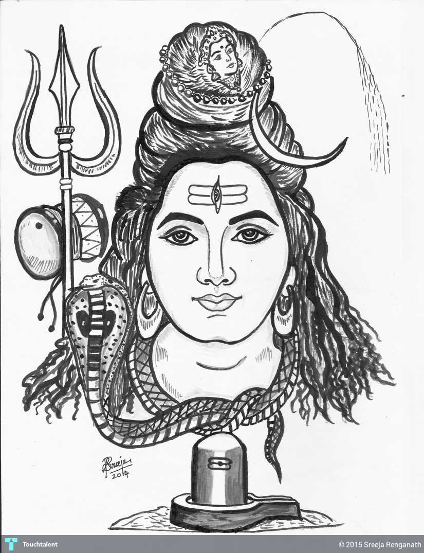 Lord shiva in painting by sreeja renganath