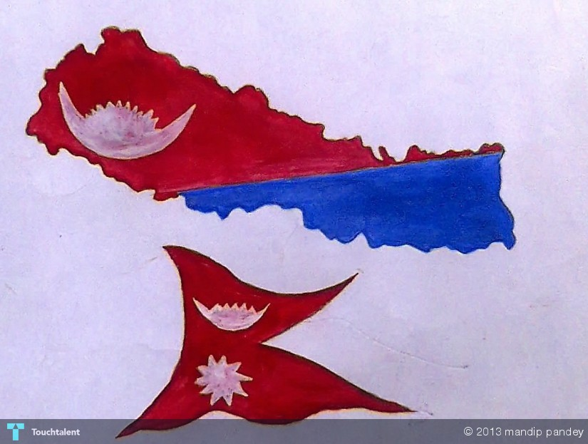 Mine Nepal.... Map N Flag....... | Touchtalent - For ...