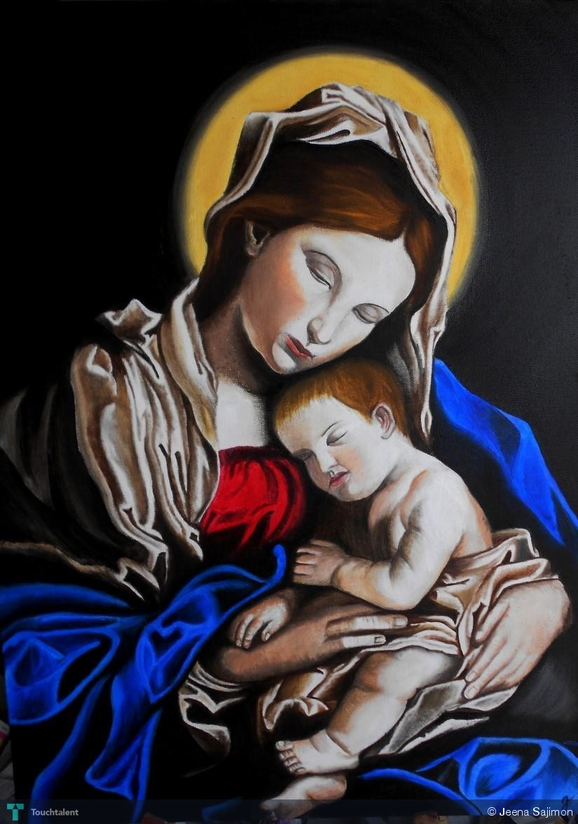 mother mary and baby jesus touchtalent for everything creative