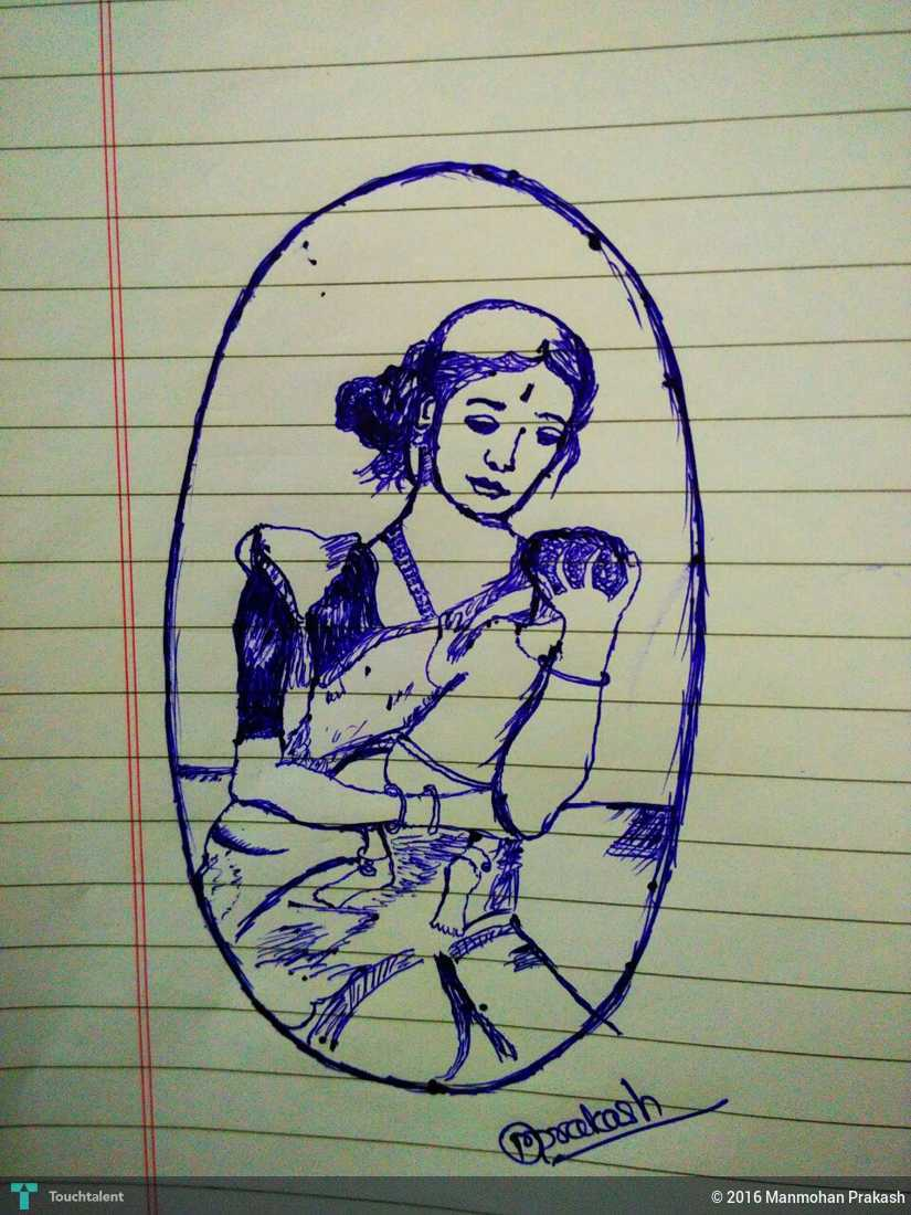 Mothers day special in sketching by manmohan prakash