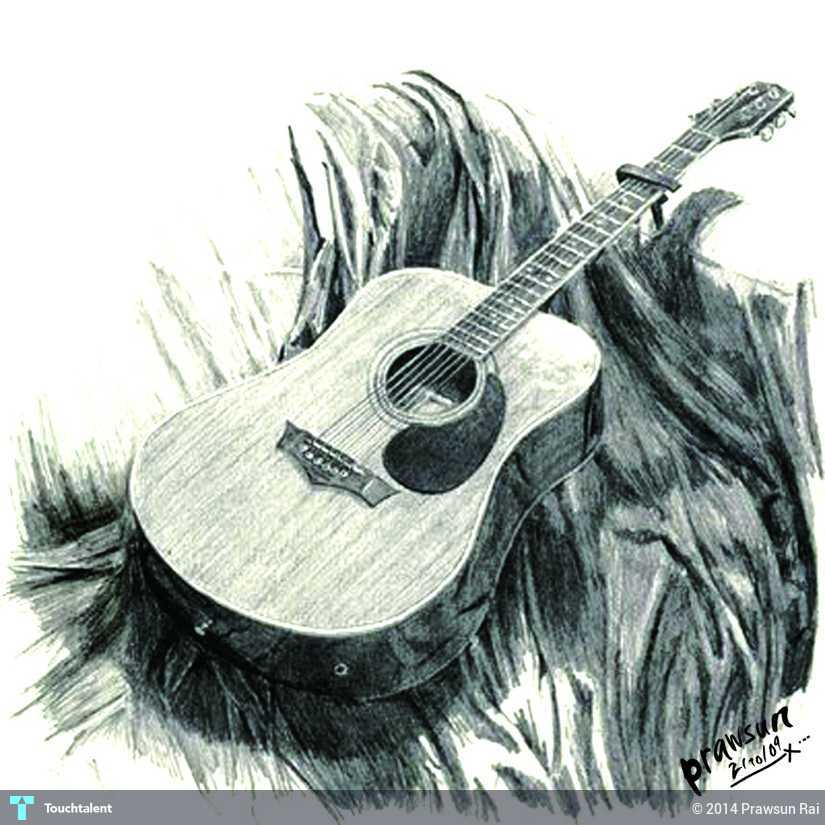 my old guitar sketching prawsun rai touchtalent