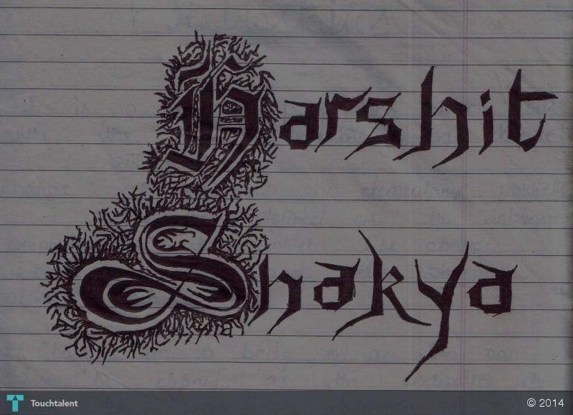 My work in my name calligraphy harshit shakya My name in calligraphy
