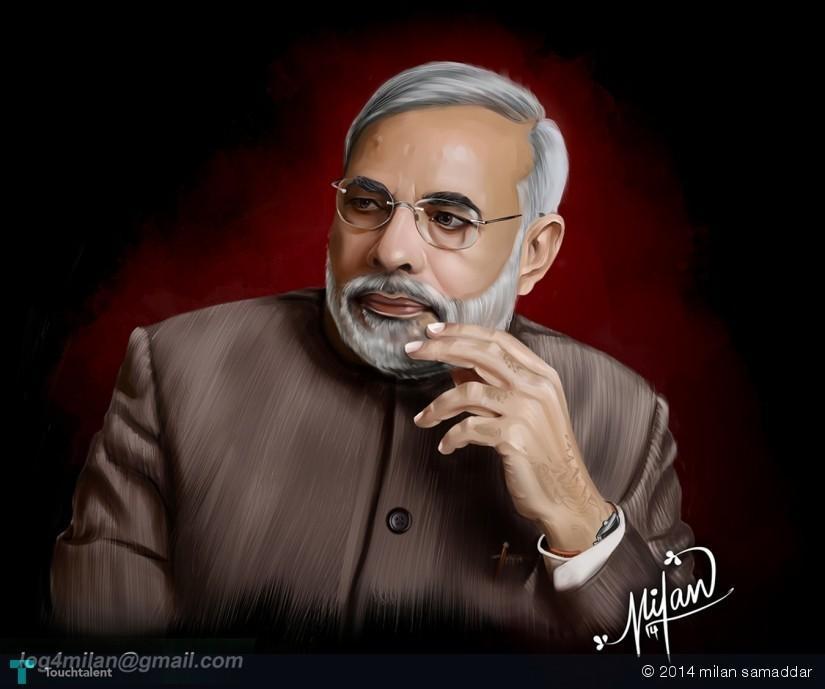 My New Painting...........Narendra Modi. in Digital Art
