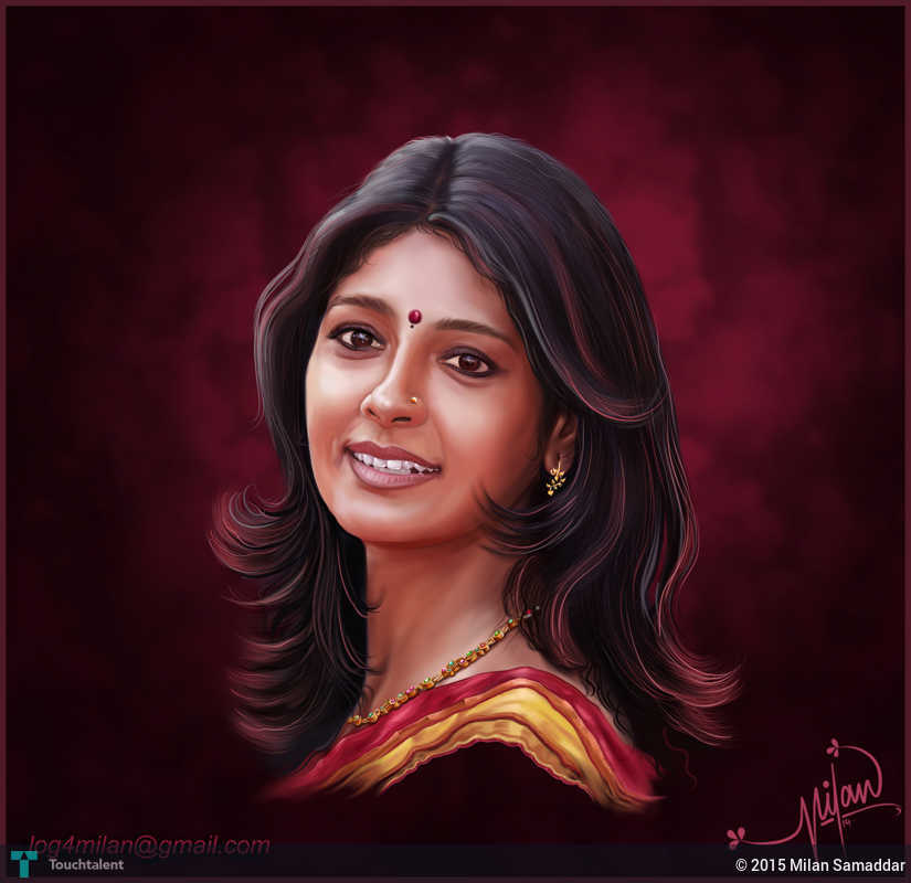 My Portrait Painting..Nandita Das | Touchtalent - For Everything ...