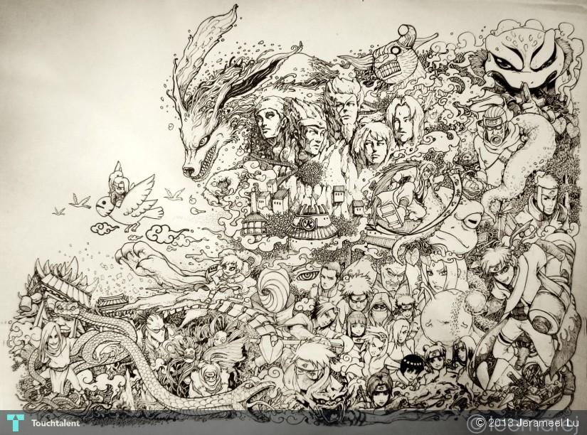 naruto doodle sketching jerameel lu touchtalent